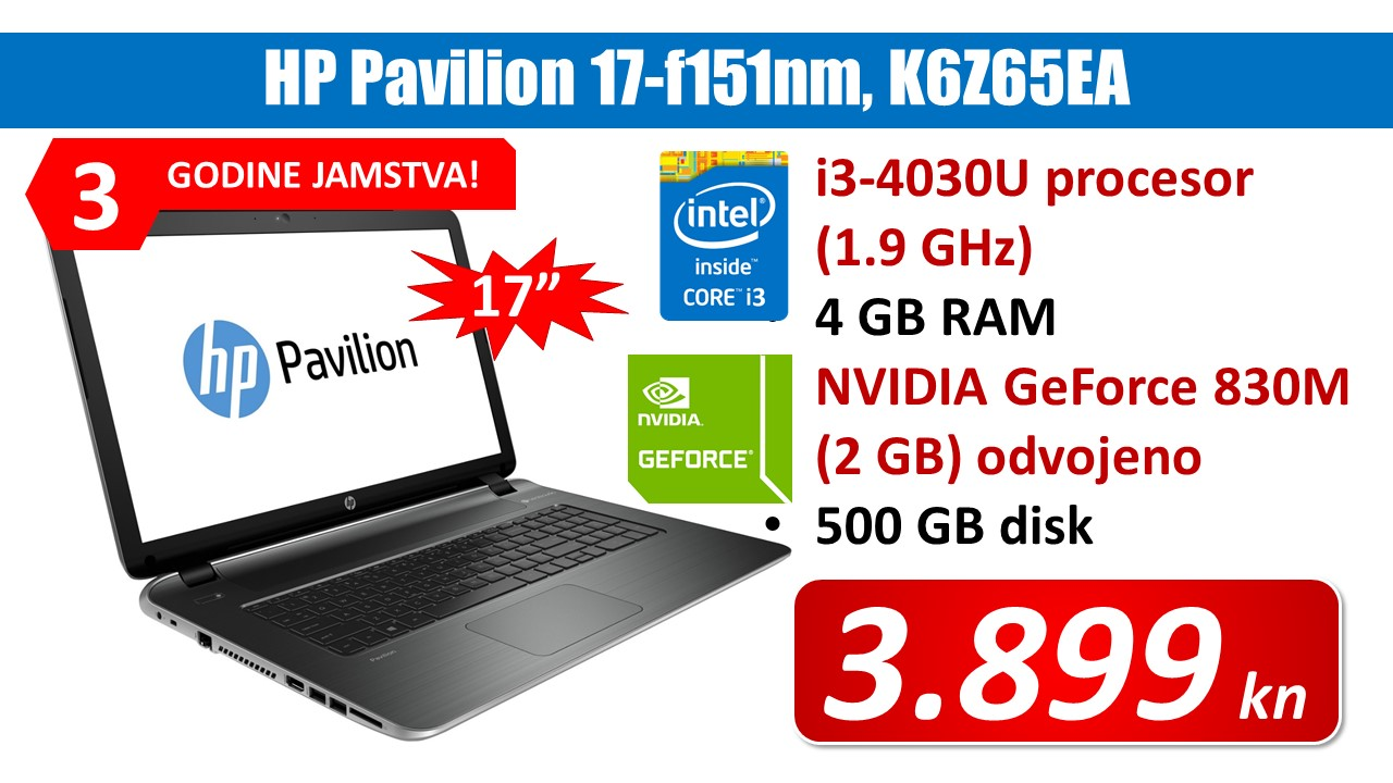 HP Pavilion 17-f151nm
